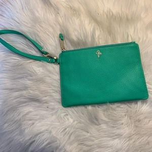 Cole Haan patent leather wristlet clutch